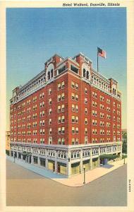 Hotel Wolford, Danville, Illinois IL Linen