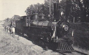 Wisconsin Whitewater Locomotive No 515 Heading East Past Cemetery Circa 1900