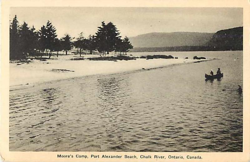 Canoe at Moore's Camp Port Alexander Beach Chalk River ON