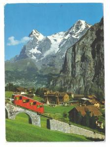 Murren Eiger Monch mit Altmendhubelbahn Funicular 4X6 1975