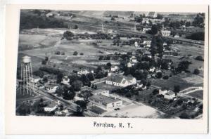 RPPC, Aerial View, Farnham NY