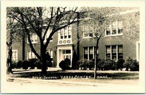 YATES CENTER, Kansas RPPC Real Photo Postcard HIGH SCHOOL Building View c1950s