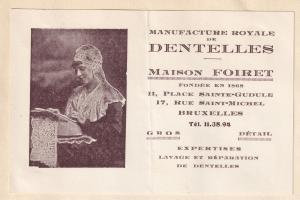 Bruxelles 1940s Dentists Place Saint Gudele Advertising Card