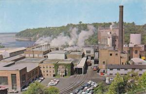 Donnacona Paper Co., along the St. Lawrence River & Jacques-Cartier River, Qu...