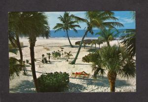 FL St Saint Petersburg Beach from Balcony Normandy Hotel Florida Postcard
