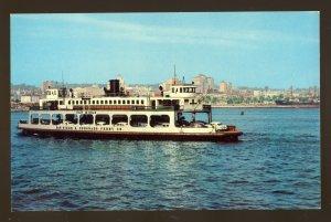 San Diego, California/CA Postcard, San Diego & Coronado Ferry
