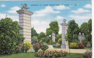 Missouri St Louis Entrance To Tower Grove Gate