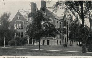 GALVA , Illinois , PU-1908 ; North Side School