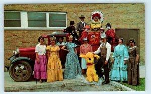 HAZEL PARK, MI Michigan ~ OLD TRUCK Group Posing COMMUNITY FAIR 1966  Postcard