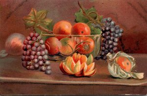 Painting Still Life Grapes and Lemons 1909
