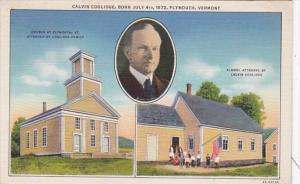 Vermont Plymouth Church and School Attended By Calvin Coolidge Curteich