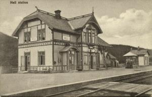 norway norge, HELL, Railway Station (1910s)