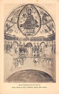 Art Mural Painting from the Apse of Santa Maria de Mur, Catalonia Spain 12th c.
