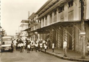 french guiana, Guyane, CAYENNE, Rue Molé, Passage du Carnaval (1960s) Postcard