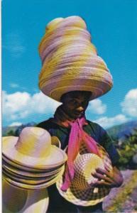 Haiti St Marc Road Typical Hat Vendor