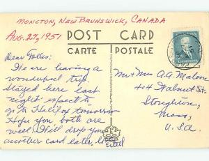 1950's STREET SCENE Moncton New Brunswick NB W2360
