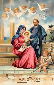 A Joyous Christmas, The Holy Family, angel children, cherubs