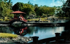 Hawaii Hilo Pavilion Bridge In Liliuokalania Park