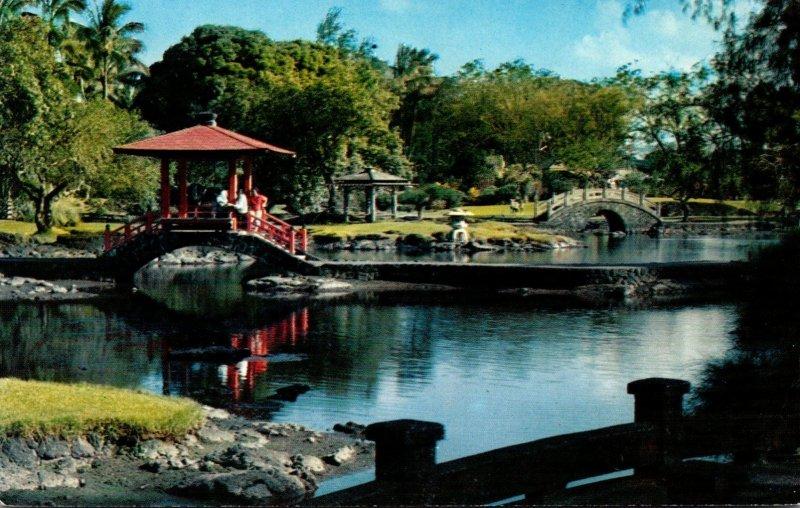 Hawaii Hilo Pavilion Bridge In Liliuokalania Park