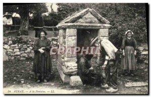 Old Postcard Auray A La Fontaine