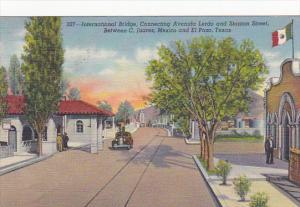Texas El Paso International Bridge Connecting Avenida Lerdo and Stanton Stree...