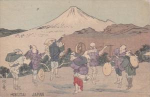 Japan Hokusai Travelers and Mount Fuji