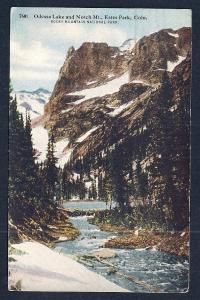 Odessa Lake Notch Mtn Estes Park CO used c1919