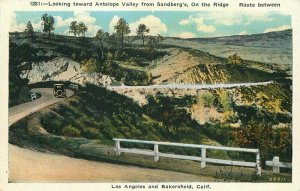 Bakersfield California Los Angeles 1920s Ridge Route Postcard Kashower 20-3698