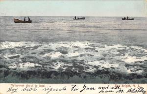Sea Bright New Jersey Fishermen About To Land Antique Postcard K93715