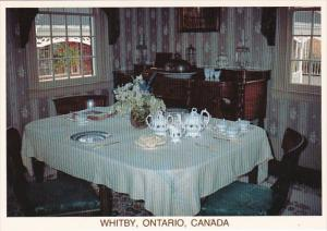 Canada Ontario Whitby The Dining Room The Lynde House Museum