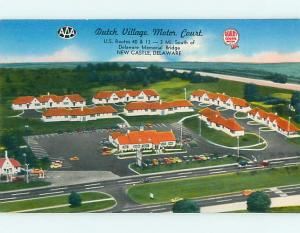 Unused 1950's GAS STATION BY DUTCH VILLAGE MOTEL New Castle DE u6421@