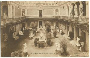 Gran Hall del Palacio Bellas-Artes, Santiago, Chile, early 1900s unused Postcard