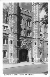 Cambridge St. John's College, The Gateway, Real Photograph