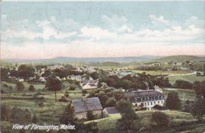 View Of Farmington Maine 1908