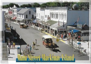 Main Street Mackinac Island Michigan Autos are Banned lots of Fudge! 4 by 6