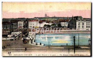 Old Postcard Boulogne sur Mer Marguet bridge and docks