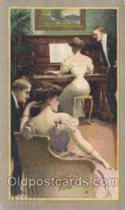 The Harvard Piano Music Postcard Postcards  The Harvard Piano