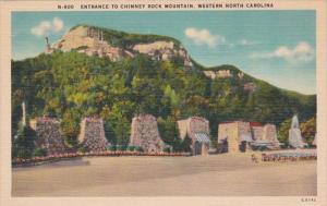 North Carolina Entrance To Chimney Rock Mountain Western North Carolina