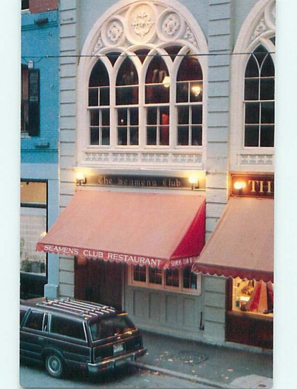 Unused Pre-1980 OLD CARS & SEAMEN'S CLUB RESTAURANT Portland Maine ME v6093@