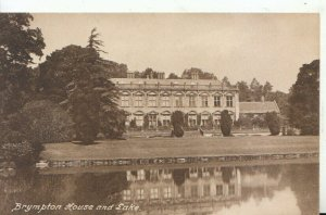 Somerset Postcard - Brympton House and Lake - Ref 16800A