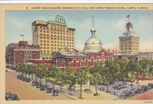 Florida Tampa Court House Square Showing City Hall And Tampa Terrace Hotel