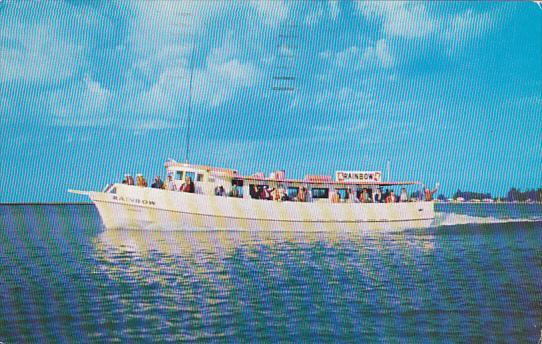 Rainbow Deep Sea Fishing Boat Clearwater Beach Florida 1957
