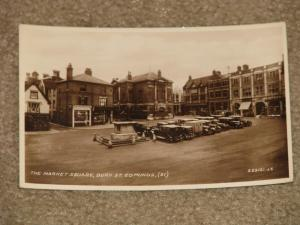 RPPC,The Market Square, Bury St. Edmunds, Early 1900`s, by Valentine & Sons