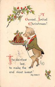 Christmas Post Card Old Vintage Antique Xmas Postcard Artist Ethel Dewees 1912