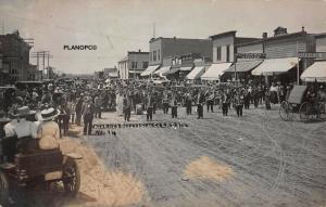 COZAD, NEBRASKA KEARNEY BOOSTERS AT COZAD-EARLY 1900S RPPC REAL PHOTO POSTCARD