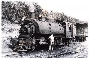 Repro Postcard Nelson & Albermarle Railway, Steam Loco, W. Thayer Collection D38
