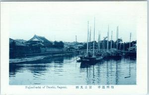 DZUSHI, SAGAMI,  JAPAN   FUJIMIBASHI  -  HARBOR, Boats   c1910s   Postcard