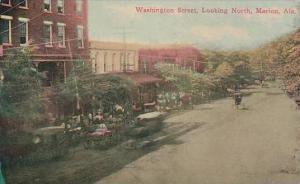 Alabama Marion Washington Street Looking North