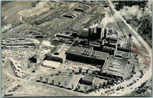 Munising, Michigan Postcard MUNISING PAPER COMPANY Aerial Mill View c1950s
