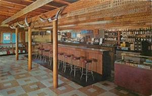 Haugan Montana~Lincoln's Silver $ Dollar Bar~Interior~1960s Postcard